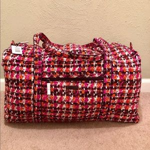 Vera Bradley Large Duffel Houndstooth Tweed
